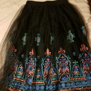 Nwot girl's boho multi layered skirt.